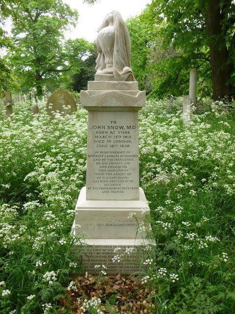 Надгробната плоча на Джон Сноу