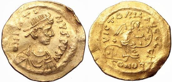 Монета на Юстин II