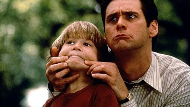 Джим Кери и дете