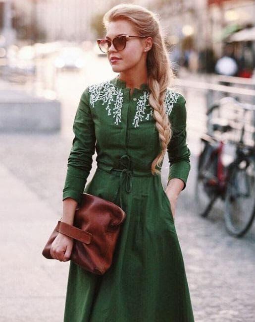 дамата в зелено