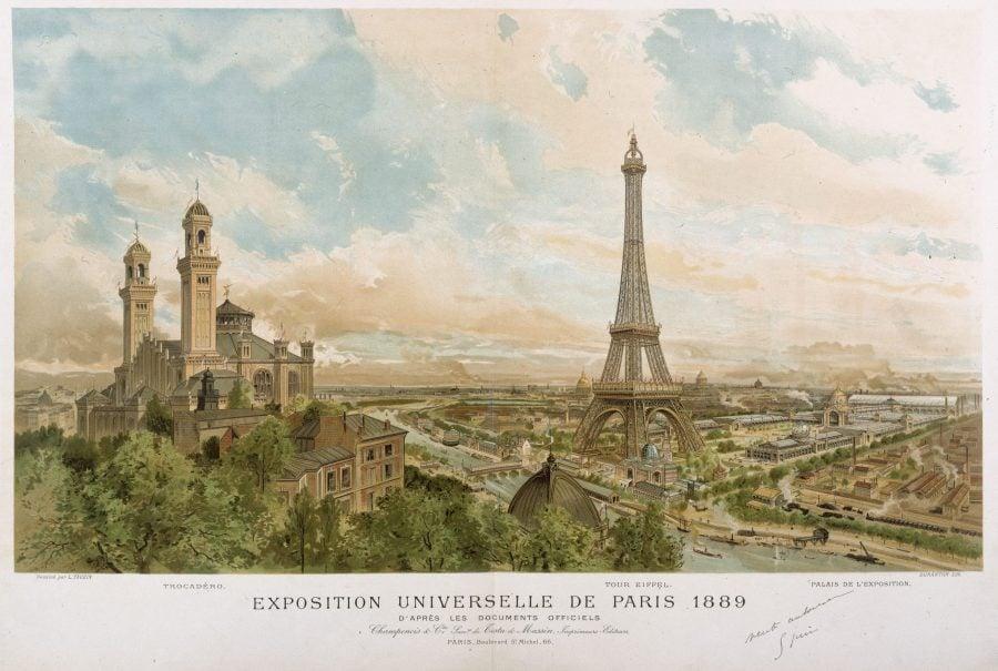 Картичка от Париж от Световното изложение през 1889
