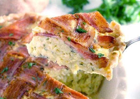 картофен пай с бекон и подправки
