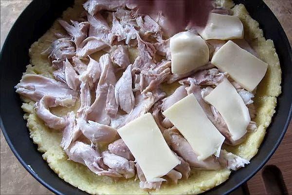 пилешко и кашкавал