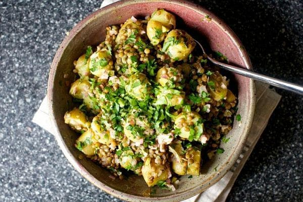 картофи и леща