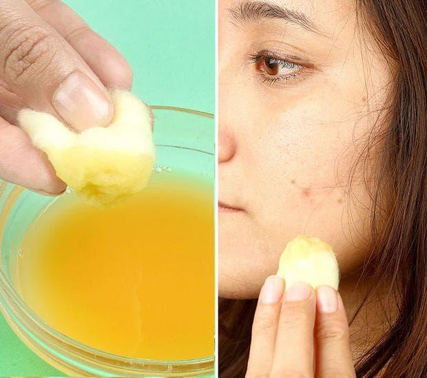 Сок от картофи за лице