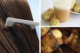 Сок от картофи за коса