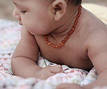 Кехлибарена огърлица за бебе