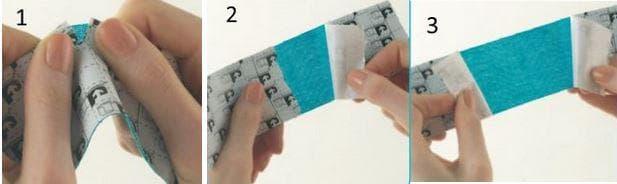 техника на поставяне на кинезо лента