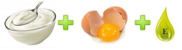 Кисело мляко, яйце и витамин Е