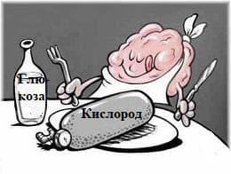 кислород и мозък