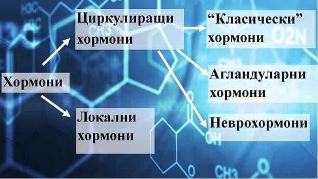 класификаия на хормоните