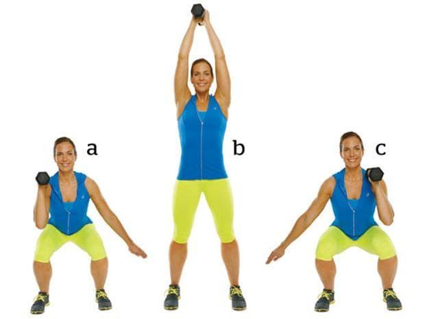 Клек и повдигане на тежест над главата