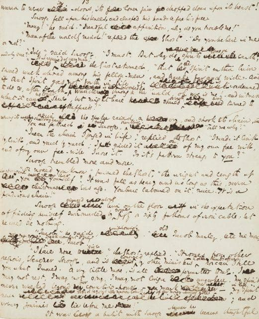 ръкопис от Коледна песен