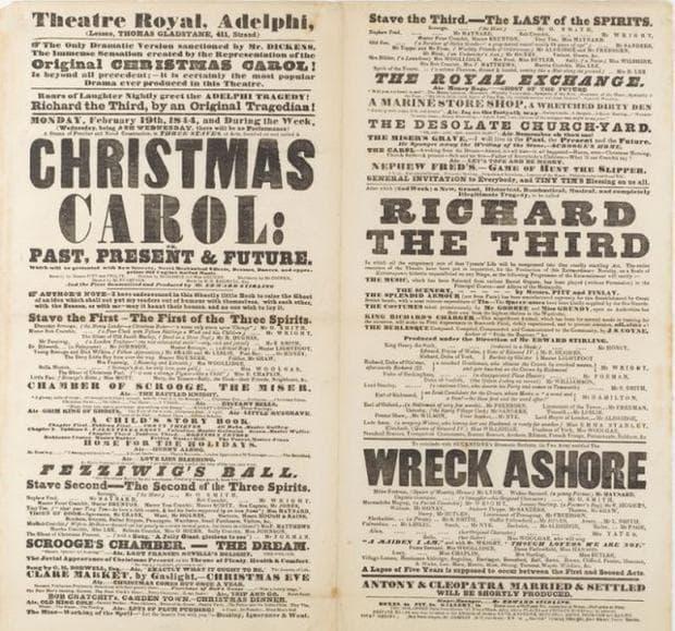 плакат на Коледна песен