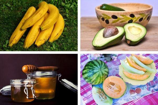 Банани, авокадо, мед, диня и пъпеш