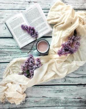 книга, кафе, люляк