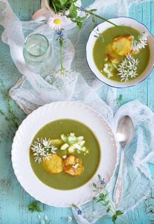 крем супа с лапад, киселец и картофи