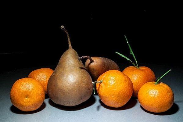 Круша и портокал