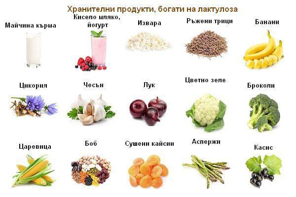 Храни, богати на лактулоза