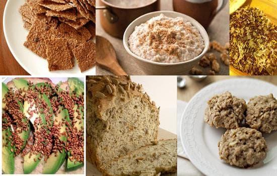 Храни с ленено семе