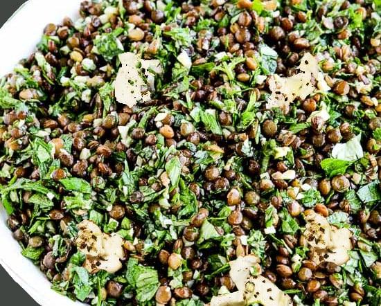 ливанска салата с леща