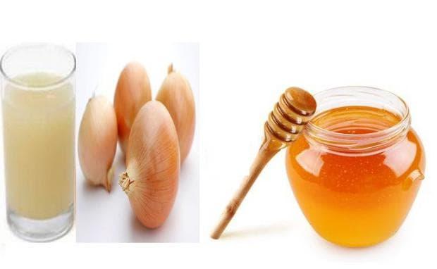 Сок от лук с мед