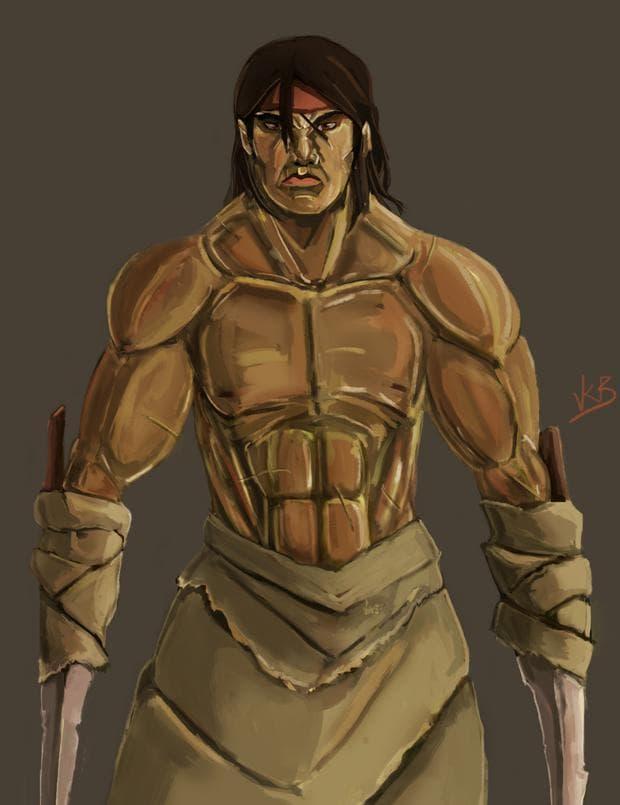 Рисунка на легендарния воин