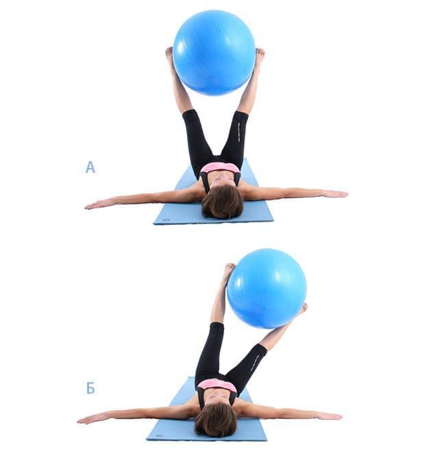 Използване на фитнес топка за тежест