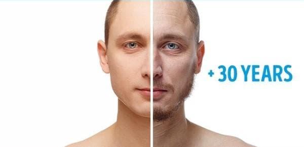 Стареене при мъжа