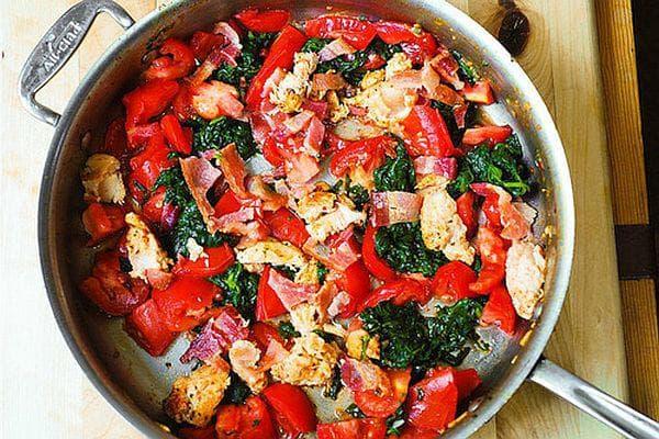 домати и спанак