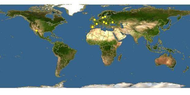 карта разпространение на съсънка