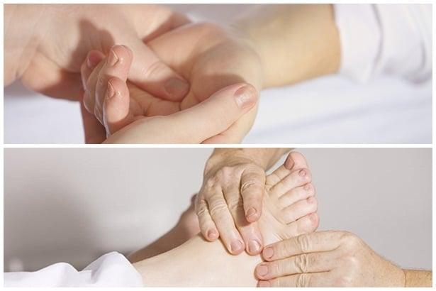 Масаж на ръцете и краката
