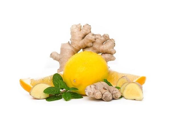 Джинджифил, лимон и картоф