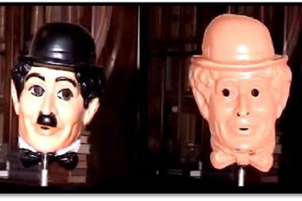 маска на Чарли Чаплин