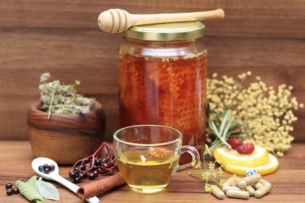 Мед, билки,чай
