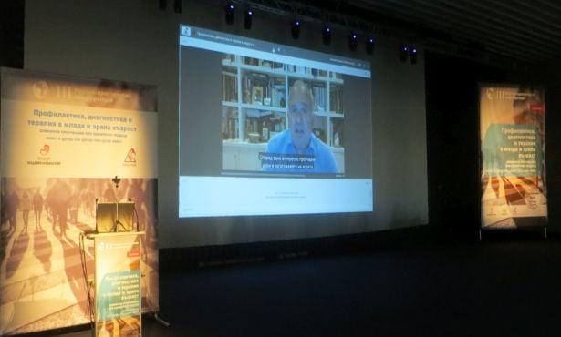 Професор Хаят на медийната среща в София