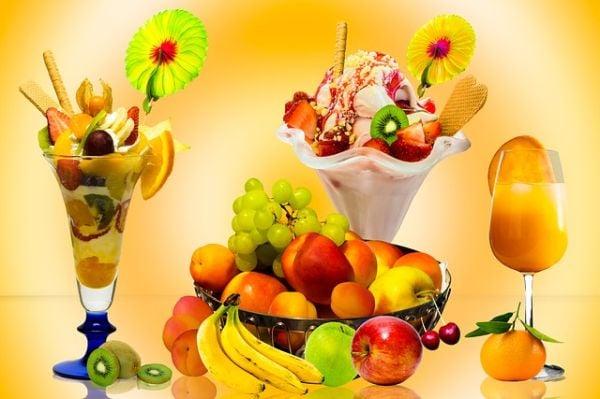 Сладолед с плодове
