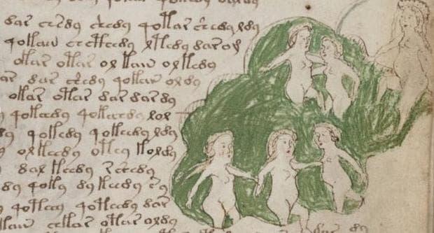Страница от ръкописа на Войнич