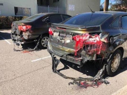 разтапящи се автомобили