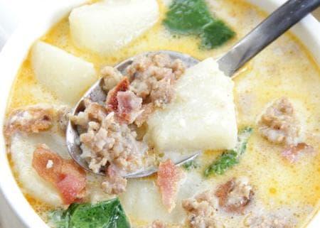 супа с картофи и спанак