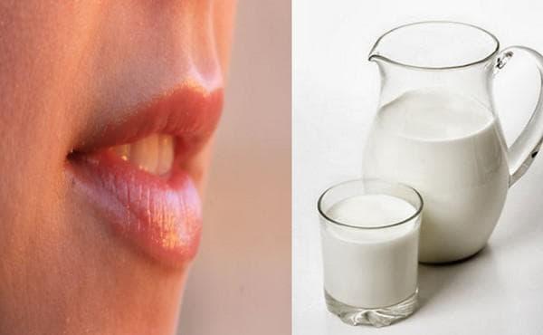 прясно мляко срещу напукани устни