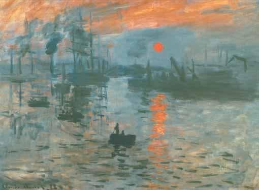 Импресия, изгрев - една от първите картини на Моне