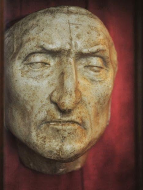 Смъртната маска на Данте