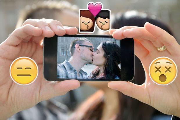 селфи с целувка