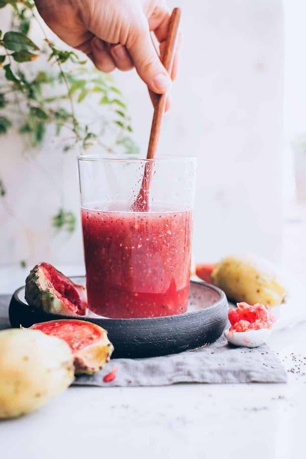 Напитка от чия, кокос и кактус