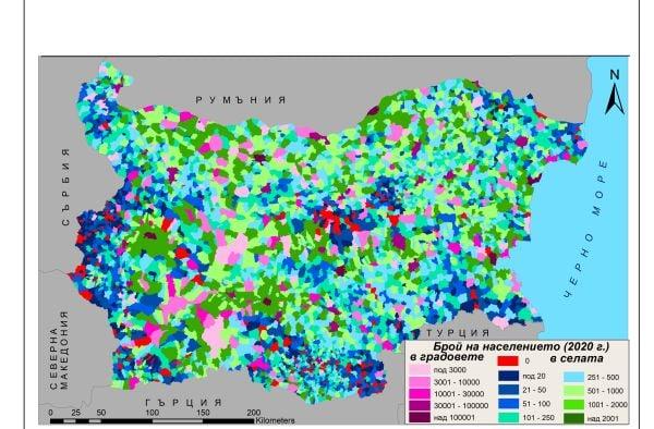 карта население