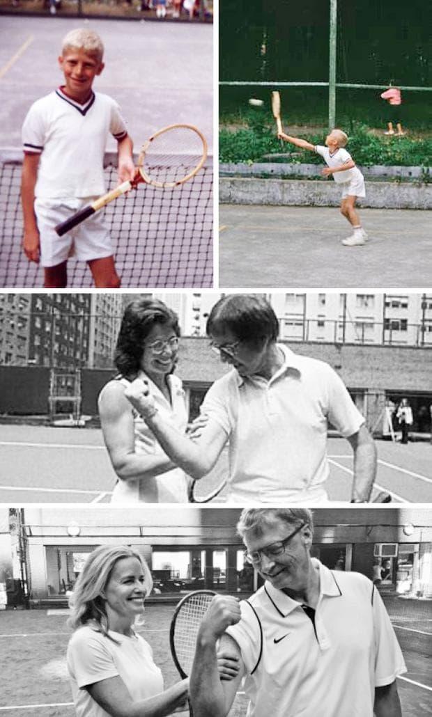 Бил Гейтс играе тенис