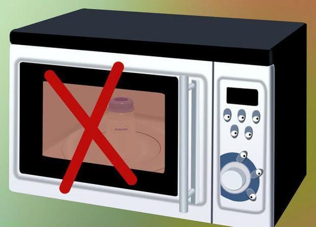 Не използвайте микровълнова печка