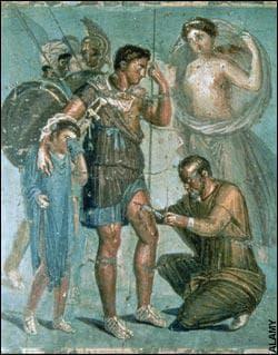 Римски хирург извършва операция