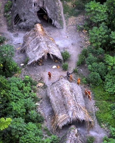 Снимка с дрон на единственото известно сентинелско селище
